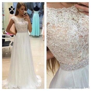 2019 Mermaid Long Prom Dresses Sexy cheap lace dress white long evening plus size prom dresses