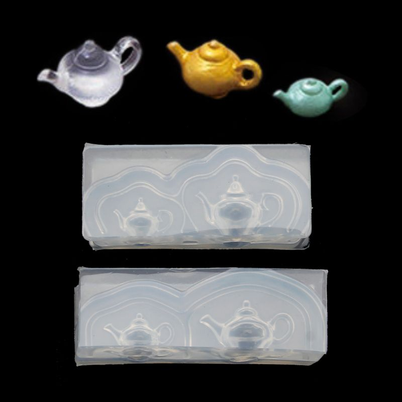 Cute Mini Teapot Silicone Resin Molds For Jewelry Making Earrings Pendant Necklace Jewelry Tools