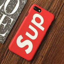Fashion Cool Brand Matte Sup Mobile Phone  Case Cover for Coque iPhone X 8 7 6s 6 Plus 6Plus 7Plus  Capinha fundas capa 10