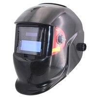 Black Solar AAA Battery Auto Darkening TIG MIG MMA MAG Welding Mask Helmets Cap Face Mask