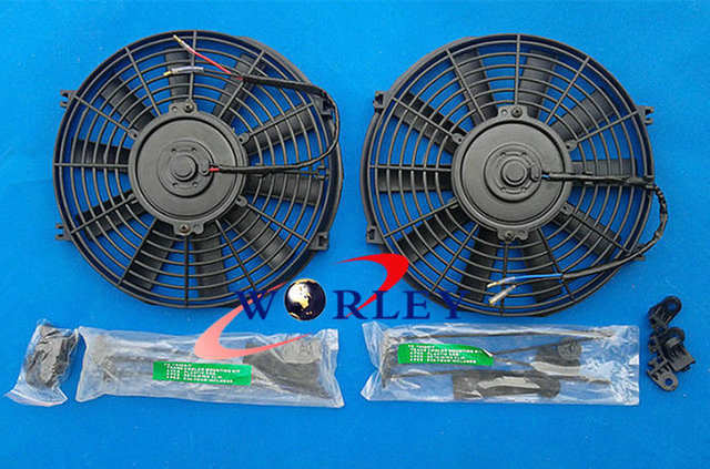 US $162 0 |FOR 72 86 Jeep CJ CJ5 CJ7 V8 Chevy Engine Conversion Aluminum  Radiator + 2* FAN-in Radiators & Parts from Automobiles & Motorcycles on