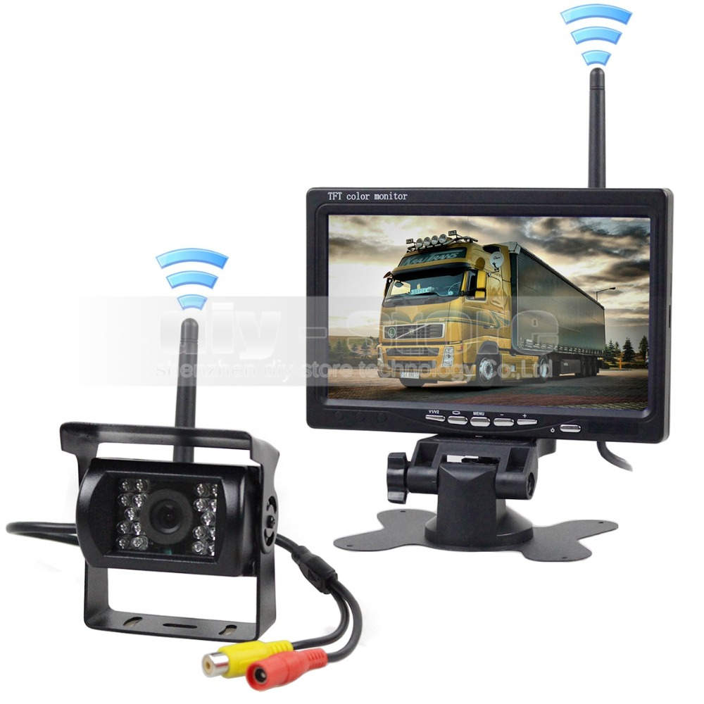 DIYKIT 7inch HD Rear View Car Monitor + IR CCD Car Backup Camera Wireless Parking Kit For Car Bus Truck Caravan Trailer RV наручные часы pierre lannier 074k698