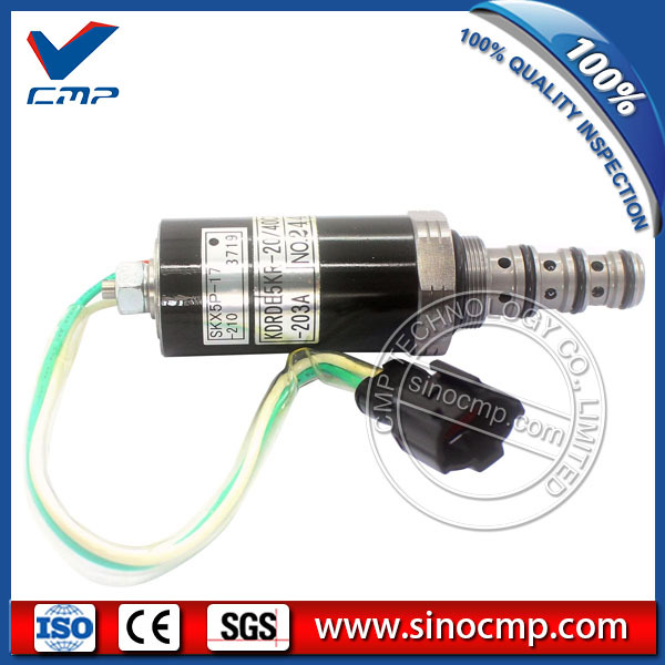 Fits Sumitomo SH200-2 Excavator Solenoid Valve SKX5P-17-210 with 3 month warranty new rotation solenoid valve kwe5k 31 g24ya50 for excavator sk200 6e