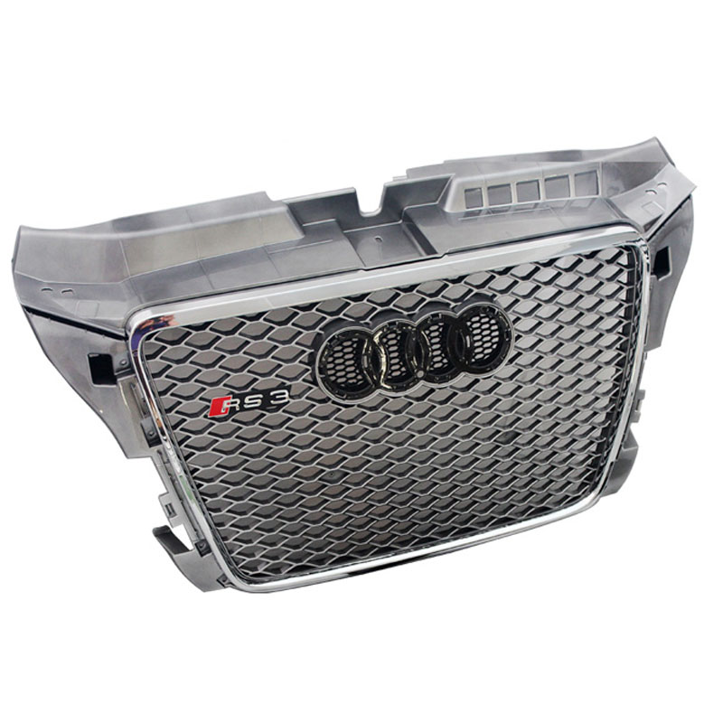 car styling A3 S3 Sline Silver grille Front Bumper mesh Radiator Grille For Audi A3 S3 2013~2016 S Line