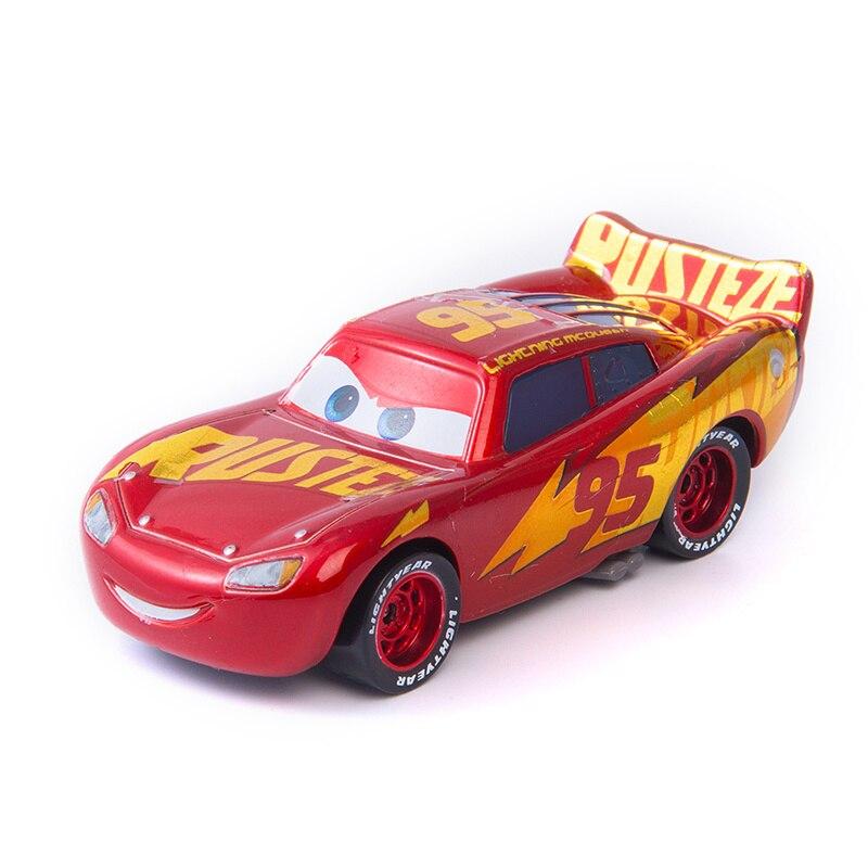 Disney Pixar Cars 2 3 The New Lightning McQueen Jackson Storm Ramirez Mater 1:55 Diecast Metal Alloy Model Car Toy Kids Gift