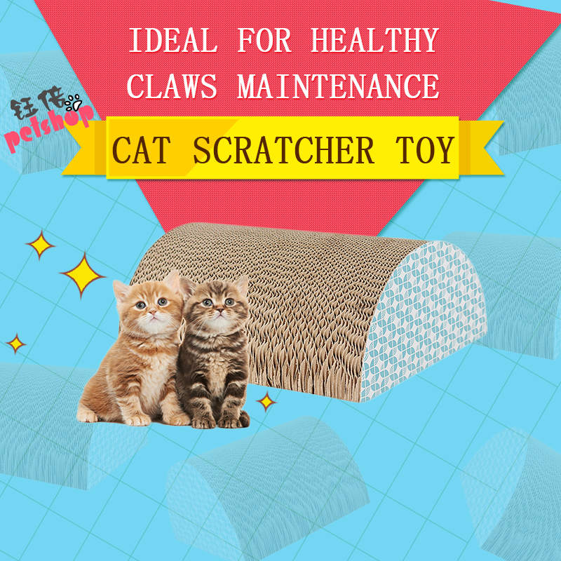 YUBEI Cat Scratcher Cardboard Catnip Toys Funning Pet Products Cat Toy Supplies Scratchers for Cat Toys Game Cats Accessories