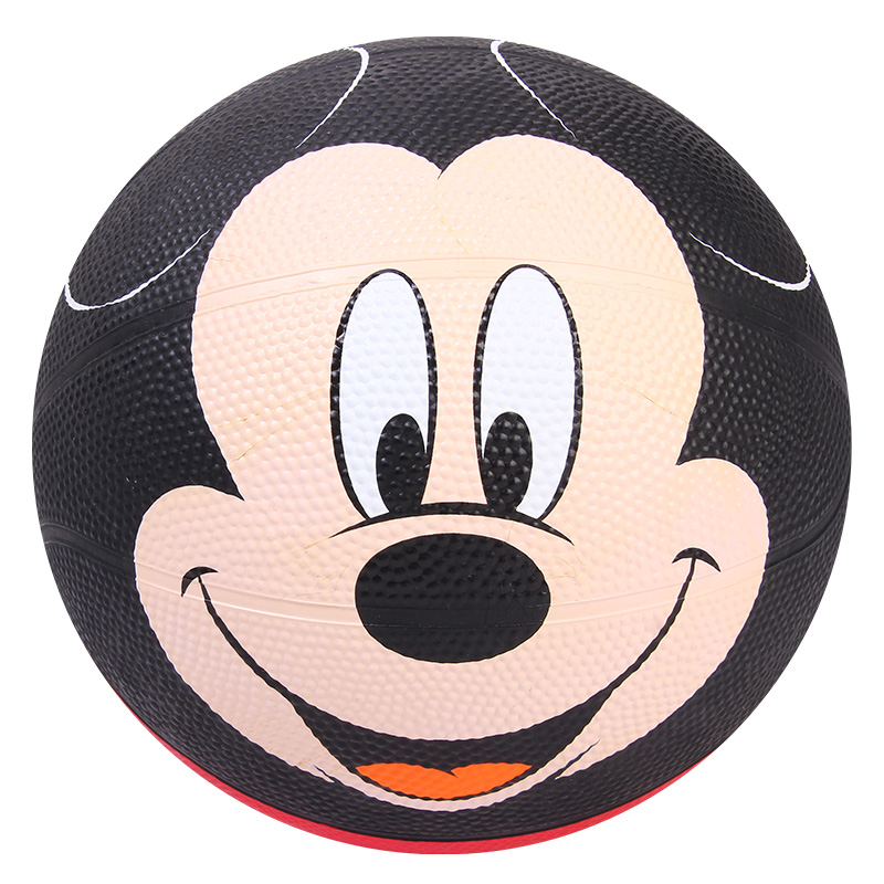 Mickey Mouse Basketball Ball Size 3 Panier Basketball Cute Cartoon Kids Children Outdoor Playing Game Ball Rubber Basket Ball