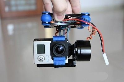 for Gopro 2 3 CNC Metal Brushless Camera Gimbal w/ Motors & BGC Controller Full set купить в Москве 2019