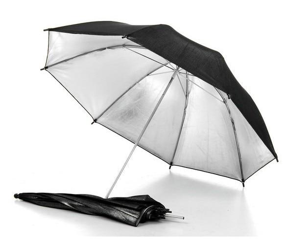83cm 33 Photography Pro Studio Flash Reflector Black Silver Reflective Umbrella