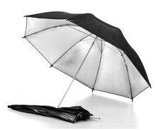 """83 см 33 """"Фотография Pro Studio Флэш Отражатель Черный Серебряный Отражающий Зонт"""