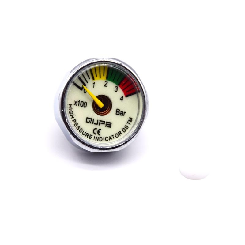 Paintball Airforce Pump Valve 25mm M10x1 High Pressure Gauge 1 Inch Mini Air Gauge 40MPA/300BAR/5000PSI/6000PSI