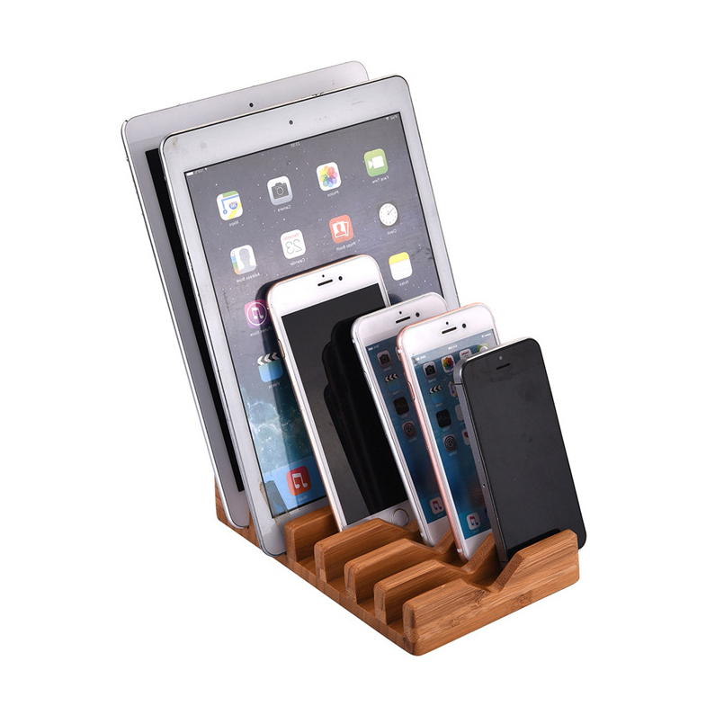 Aliexpress.com : Buy Cellphone Tablet Charging Station 6 Slots Bamboo Wood  Stand Docking Station Charger Dock Desk Holder Display Cradle For IPhone 7  From ...