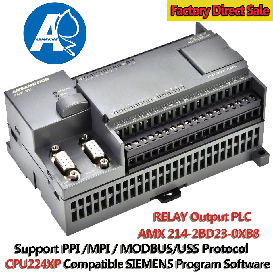 CPU224XP PLC Programmable Controller 220V PLC S7-200 RELAY Output Programmable Logic Controller