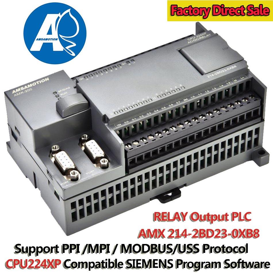 CPU224XP PLC Programmable Controller Replace Siemens 214-2BD23-0XB8 220V PLC S7-200 RELAY Output Programmable Logic Controller