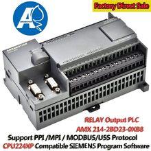 Controlador programável cpu224xp plc, substituição de controlador lógico programável plc 220v plc S7 200 de saída de relé