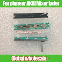 """עבור pioneer AKAI מיקסר B10K B103 ישר שקופיות פוטנציומטר מדעך/סה""""כ אורך 60mm נסיעות 45mm/סטריאו מדעך B10Kx2"""