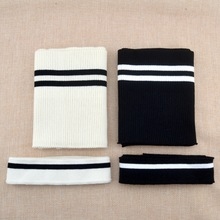 7e8387a3d01 3 pcs lot New Cotton Striped Knit Rib Cuff Trim Clothing Jacket Coat Cotton  Stretch