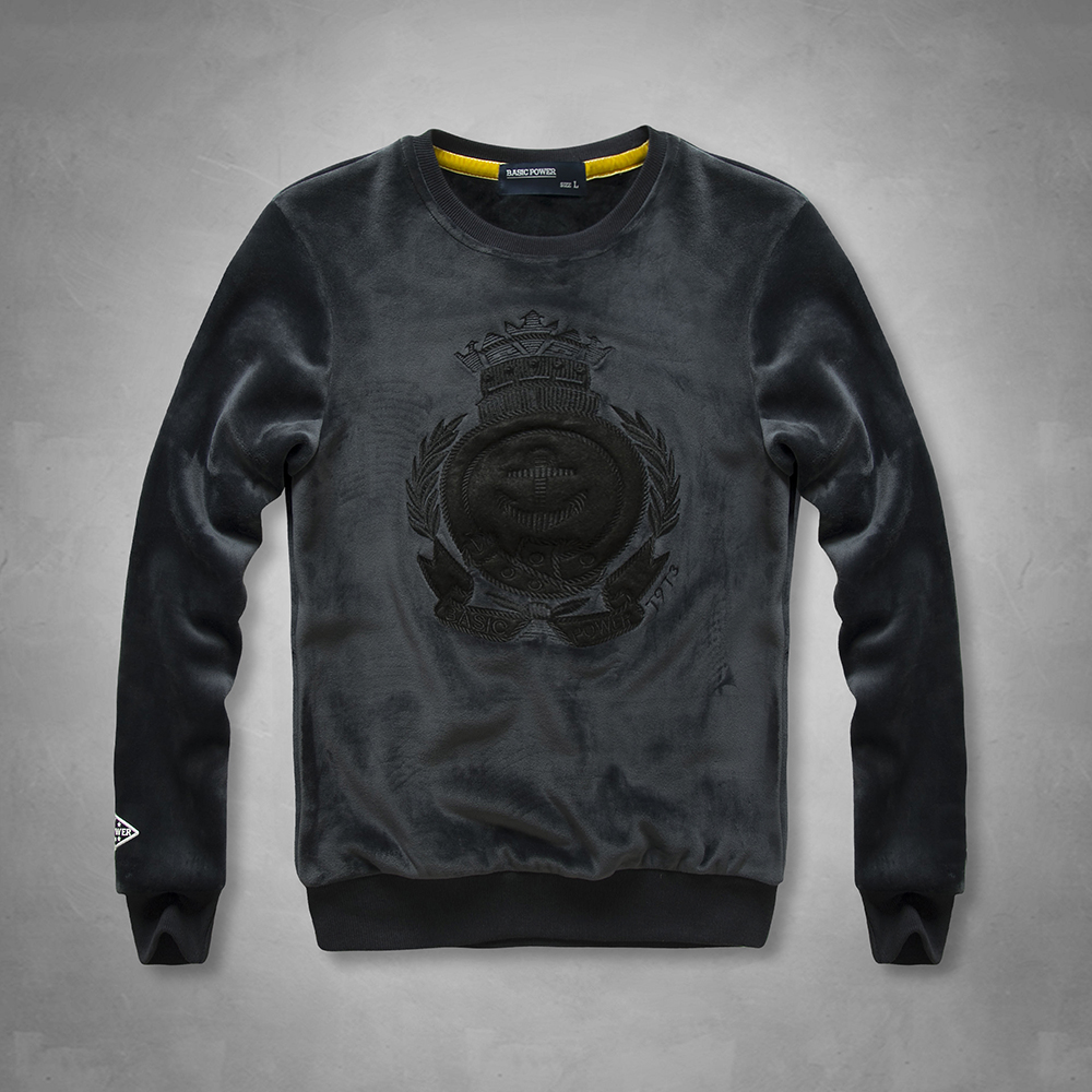 Promotion Limited New Winter Men Blue Black Sweatershirt Flanel Fabric Hoodie Street Fashion design O-neck Regular Warm Shirts