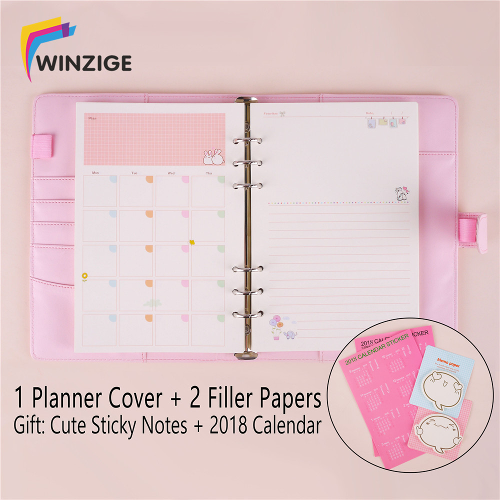 Winzige Macaron A5 A6 Leather Spiral Binder Notebook Kawaii Agenda Notepad Bullet Journal Diary Planner Cute Stationery