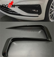 Accessories NEW! ABS Bright Black Front bumper front Front wind knife For VW JETTA MK7 2019+ Car styling