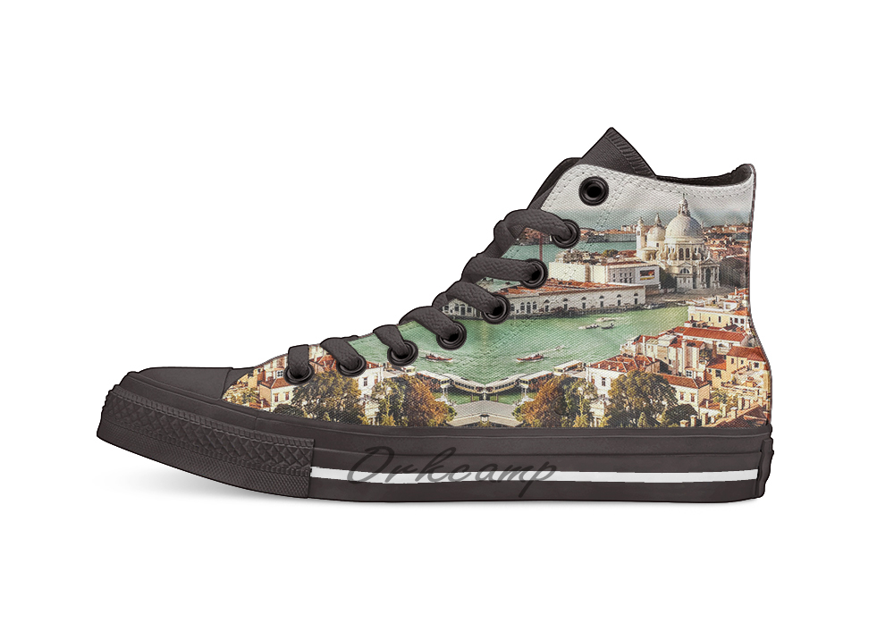Canvas Shoes Maria Impressions Design Casual Santa of Basilica Di Venice Della Salute title=