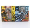 "Ems grátis 6 pcs 6 "" Anime SHFiguarts Naruto Shippuden Uzumaki Naruto / Uchiha Sasuke móvel em caixa 14 cm PVC modelo figura"