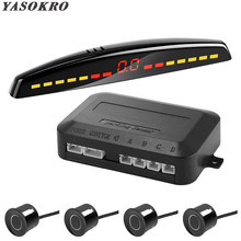 YASOKRO Parktronic Car Detector Auto LED Display Parking Sensor Kit Reverse Assistance Backup Radar Monitor Parking Car-detector(China)