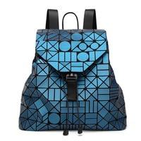 2017 New Laser Matte Geometric Bao Bao Women Backpack Bags Women Fashion School Bag Folding Girl