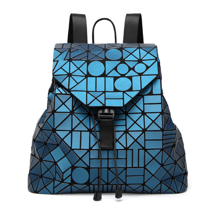 все цены на 2018 New Laser Matte Geometric Women Backpack Bags Women Fashion School Bag Folding Girl Shoulder Bag Daily Backpacks Bao Logo