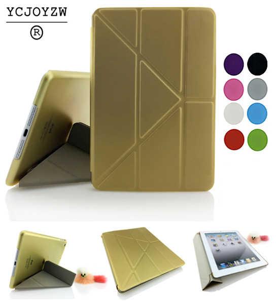 حالة لتفاح ipad mini 1 2 3 قرص جلد حالة الذكية الترا سليم الأصلي 1:1 لباد a1432'a1454'a1489'a1491'a1599'a1600