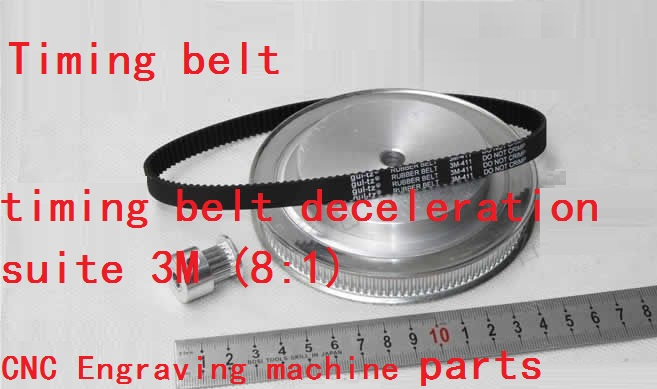 Timing belt pulleys timing belts timing belt deceleration suite 3M (8:1) CNC Engraving machine parts dayco 95246fn timing belt