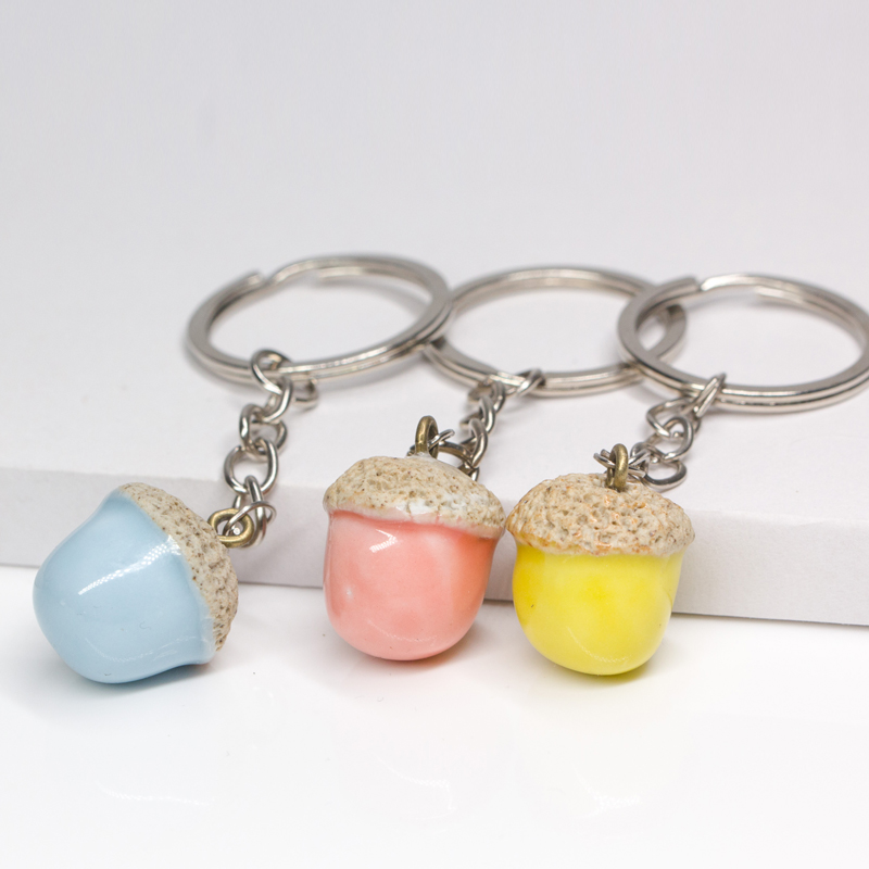 Wholesale Lovely Cartoon 3 Color Acorn KeyChain Auto Key Chains Llavero  Charm Trinket Pendant Car Key Ring Women Bag Accessories-in Key Chains from  Jewelry ... 1c2090ef02bd