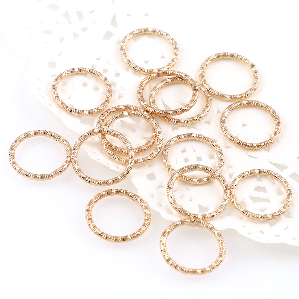 3 color Korean Style Round Jump Rings fashion Twisted Copper Closed Rings For Diy Fashion Jewelry Accessories