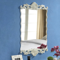 Free shipping,Rectangle with waves Wall Mirror,European Design,retro fashion,mirror for bedroom & bathroom,home decor,vintage