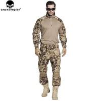 EMERSONGEAR G3 Airsoft Uniform Airsoft Shirt Tactical Pants with Knee Pads Combat Uniform Hunting Clothes HLD EM7047 EM8594
