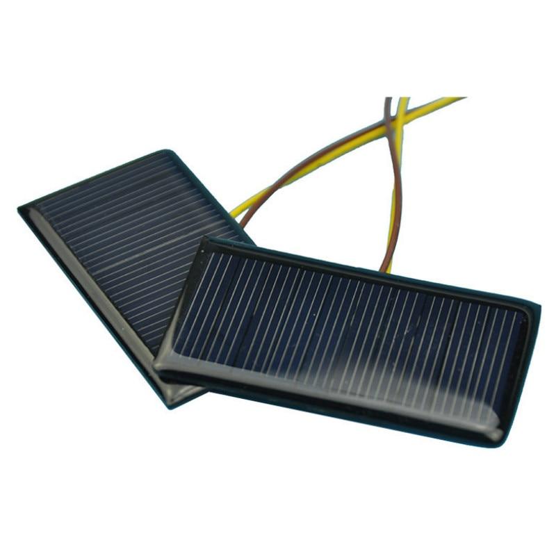 Panneau solaire 50Pcs 78x52mm polycristallin Photovoltaïque Module 0.66 W Chargeur
