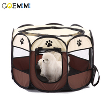 New Pet Dog Breathable House Portable Folding Puppy Cave Waterproof Nylon Kennel Fence Outdoor Supplies