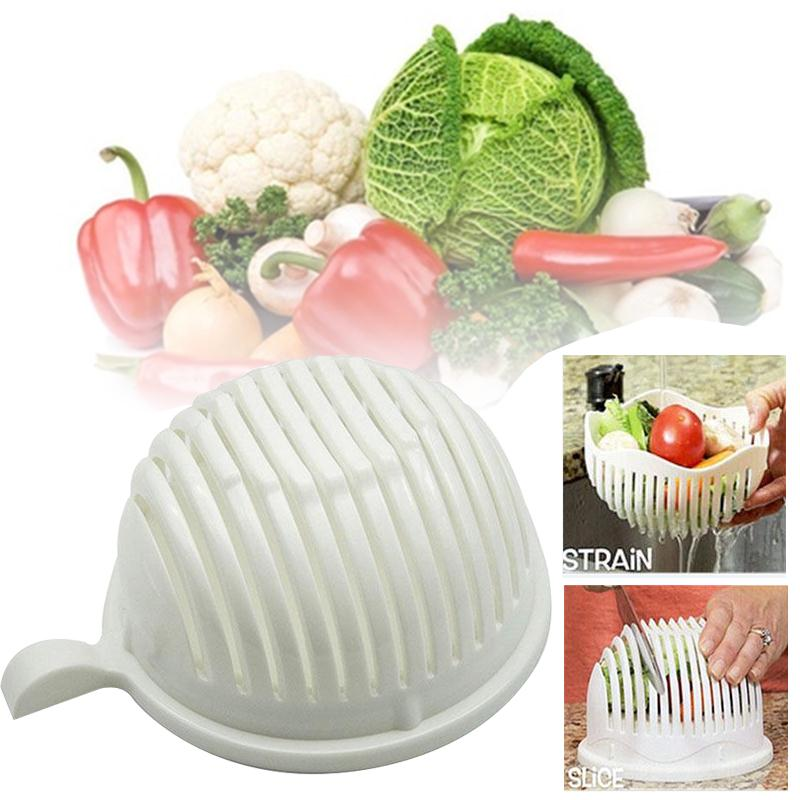 Easy to Make Salad Cutter Bowl Kitchen Fast Slicer Health Portable Cutting Accessories Tools Cocina Gadget