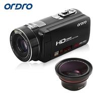 Ordro цифрового видео Камера hdv z80 1080 P 30fps FHD Портативный видеокамера 10x Оптический зум с супер Широкий формат объектив Дистанционное управлени