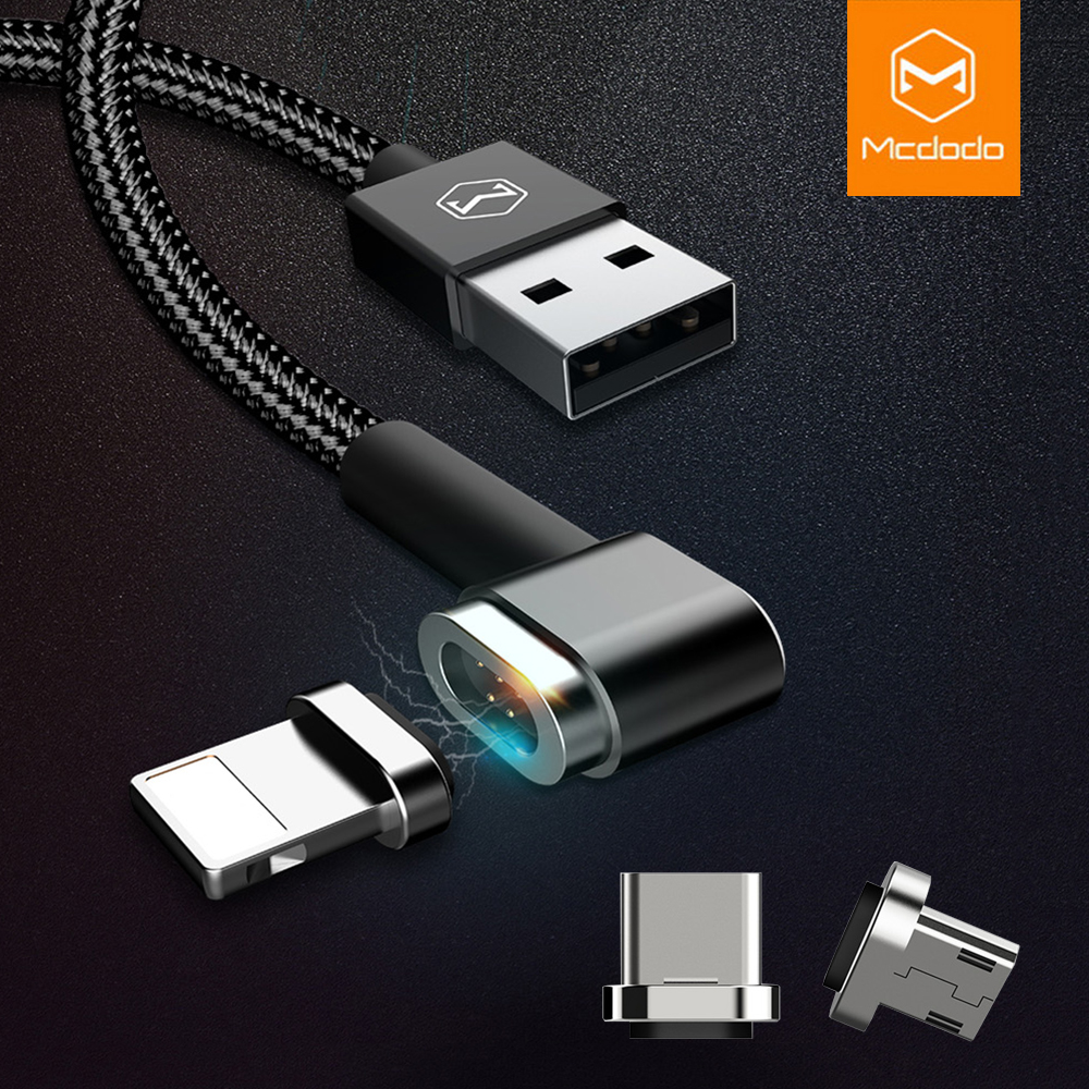 Mcdodo Magnetic Cable for iPhone X 8 7 Plus Lightning to USB Cable 3 in 1 Micro USB Type C Cable for Samsung Xiaomi Huawei USB C