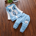 2016 autumn new children's clothing for boys and girl baby cotton long-sleeved suit Korean version of the cartoon Winnie the thr