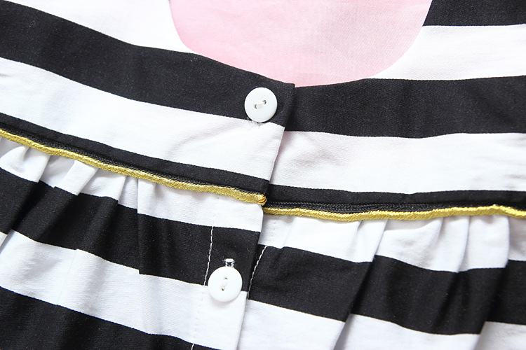 HTB1geFOQpXXXXXnaXXXq6xXFXXXg - Baby Girls Dress Summer 2017 Stripe Dress Baby Dressing for Party Holiday Black and White with Bow Kids Clothes Girls Cute Brand