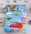 Children cartoon super wings bedding set without comforter Peter Pan home textile 2/3pcs single/twin size free shipping