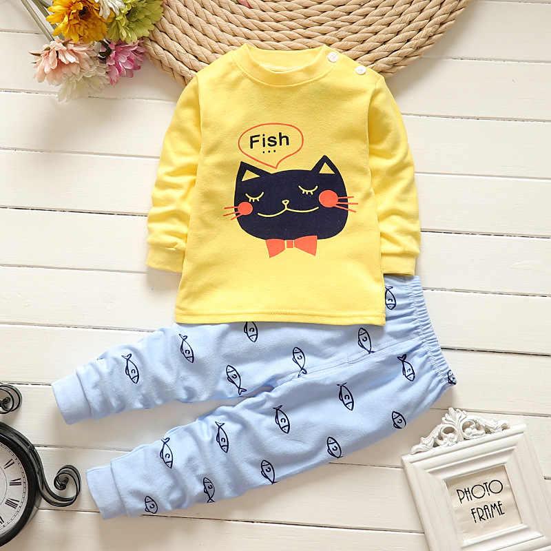 Lollas Musim Gugur Baru Kartun Bayi Anak Laki-laki Anak Set Pakaian Bayi Pakaian Bayi Perempuan Pakaian Katun Lengan Panjang Bayi Pakaian S