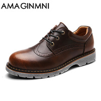 2017 New Brand Handmade Breathable Men S Oxford Shoes Top Quality Dress Shoes Men Flats Fashion