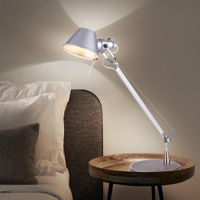 Lovely Table Lamp Flexible Long Swing Arm Desk Lamp Metal Architect Adjustable  Folding Led