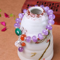 RADHORSE 925 Silver Bracelets for Women Fine Jewelry Natural Amethyst malachite agate original design Diy Bracelets