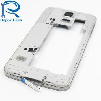cf15487a5b6 Medio vivienda marco bisel para Samsung Galaxy S5 SV G900 G900F G900V G9600  G900H chasis medio