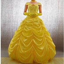 Платье принцессы+ ожерелье+ перчатки; маскарадные костюмы красавицы и чудовища для женщин
