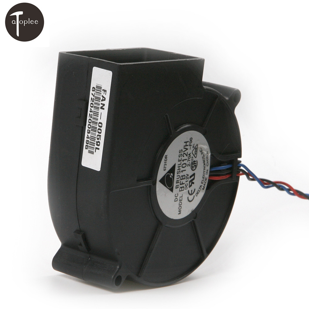 1pc DC 12V 1.50-2.7A Turbo Blower Fan 3 Pin Air Volume Large Barbecue Stove Centrifugal For BBQ Cooking Cooler Fan Tool 4500RPM hot sale dc12v 2 7a turbo blower fan 3 wire air volume large barbecue stove centrifugal for bbq cooking cooler fan